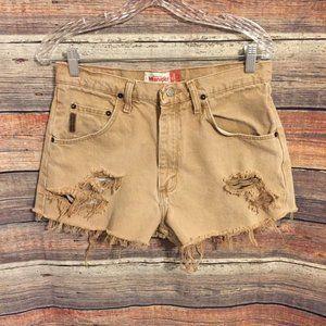 Vintage wrangler cut off distressed shorts